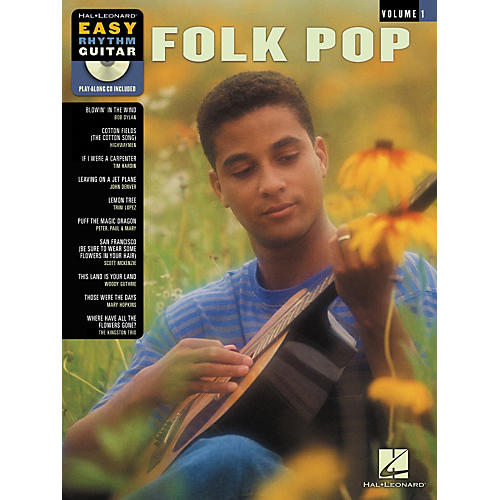 Hal Leonard Folk Pop Easy Rhythm Guitar Volume 1 (Book/CD)-thumbnail