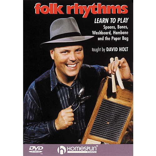 Homespun Folk Rhythms: Learn To Play Spoons, Bones, Washboard, Hambone and the Paper Bag (DVD)-thumbnail