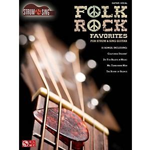 Hal Leonard Folk/Rock Favorites - Strum and Sing Series for easy guitar