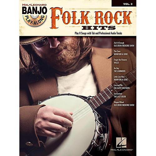 Hal Leonard Folk/Rock Hits Banjo Play-Along Volume 3 Book/CD