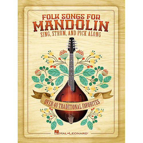 Hal Leonard Folk Songs For Mandolin - Sing, Strum and Pick Along-thumbnail
