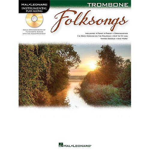 Hal Leonard Folk Songs For Trombone  Instrumental Play-Along Book/CD