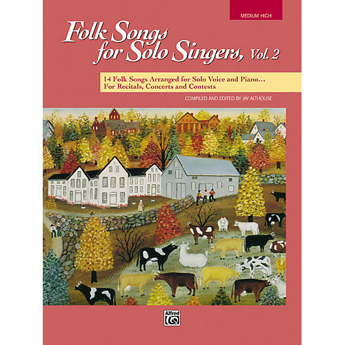 Alfred Folk Songs for Solo Singers Vol. 2-thumbnail