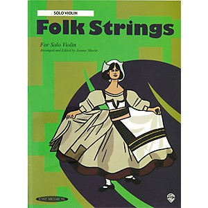 Alfred Folk Strings for Solo Violin Book by Alfred