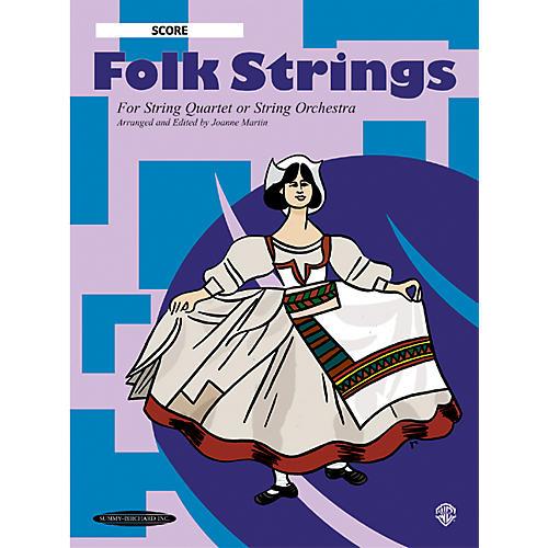 Summy-Birchard Folk Strings for String Quartet or String Orchestra Score-thumbnail