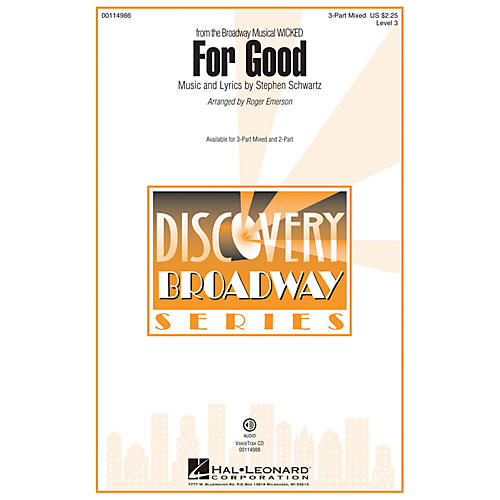 Hal Leonard For Good (Discovery Level 3) VoiceTrax CD Arranged by Roger Emerson