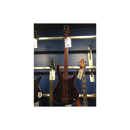 Washburn Force 8 Bass Electric Bass Guitar Black and Red