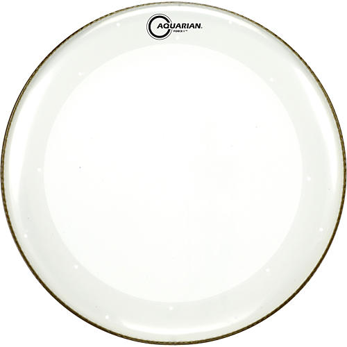 Aquarian Force I Bass Drum Batter Head Clear 20 in.