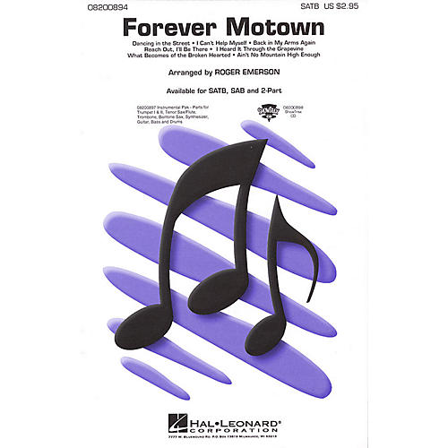 Hal Leonard Forever Motown (Medley) ShowTrax CD Arranged by Roger Emerson