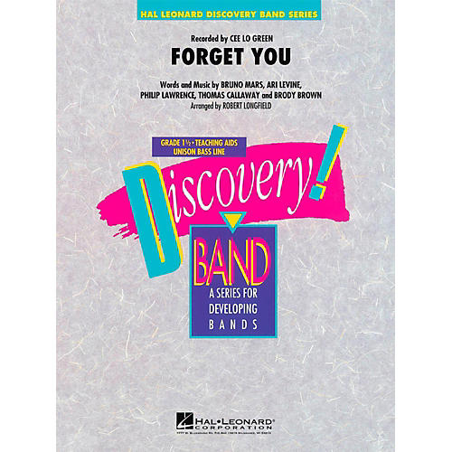 Hal Leonard Forget You  - Discovery Concert Band Level 1-thumbnail