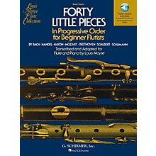 G. Schirmer Forty Little Pieces Woodwind Solo Series Softcover Audio Online Composed by Various Edited by Louis Moyse