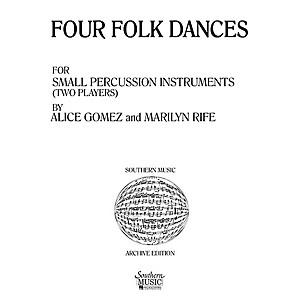 Hal Leonard Four  4 Folk Dances Percussion Music/Percussion Ensembles S...