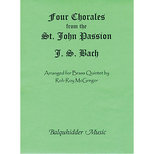 Carl Fischer Four Chorales from St. Johns Passion Book-thumbnail