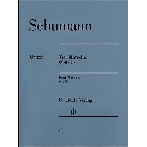 G. Henle Verlag Four Marches Op. 76 Piano Solo By Schumann / Herttrich
