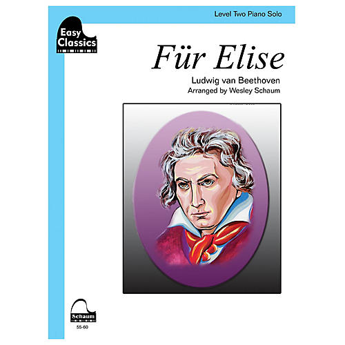 SCHAUM Für Elise Educational Piano Book by Ludwig van Beethoven (Level 2)