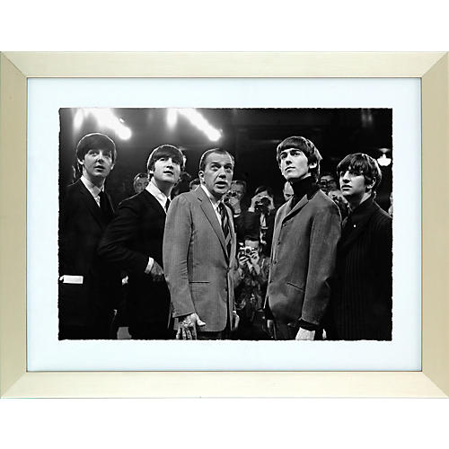 Mirrorpix Framed Print of the Beatles and Ed Sullivan-thumbnail