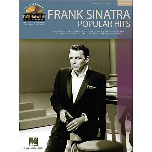 Hal Leonard Frank Sinatra Popular Hits Volume 44 Book/CD Piano Play-Along arranged for piano, vocal, and guitar (P/V/G)