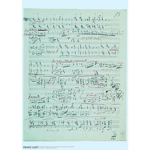Axe Heaven Franz Liszt Music Manuscript Poster - Piano Sonata in B minor-thumbnail