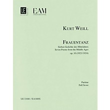 Universal Edition Frauentanz, Op. 10 (Seven Poems from the Middle Ages) Score Series Composed by Kurt Weill