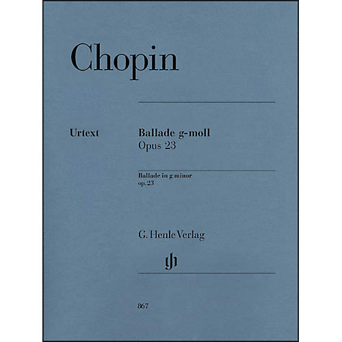 G. Henle Verlag Frdric Chopin - Ballade in G minor Op. 23 for Piano-thumbnail