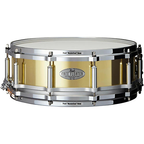 Pearl Free Floating Brass Snare Drum-thumbnail