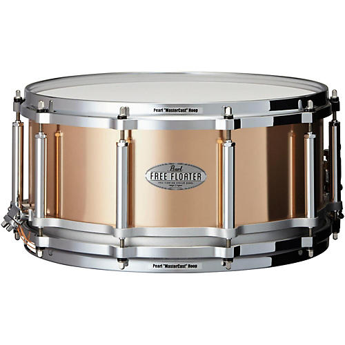 Pearl Free Floating Phosphor Bronze Snare Drum 14 x 6.5 in.-thumbnail