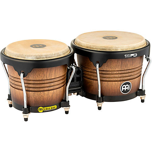 Meinl Free Ride Series Matte Wood Bongos Antique Tobacco Burst 6.75 & 8 in.