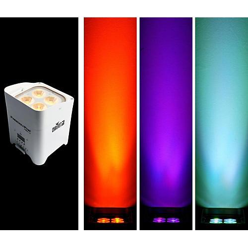 CHAUVET DJ Freedom Par Hex-4 Battery-Powered/Wireless RGBAW+UV LED Par Wash Light - White-thumbnail