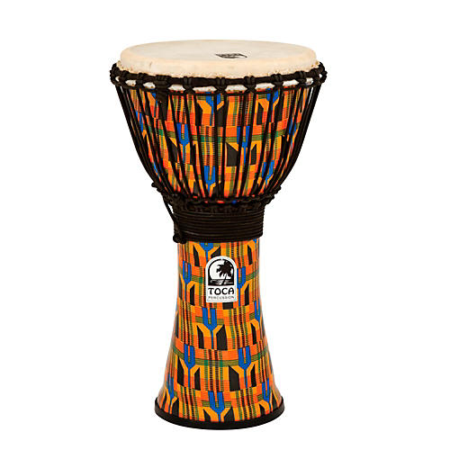 Toca Freestyle Kente Cloth Rope Tuned Djembe 10 in.