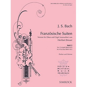 Simrock French Suites Oboe and Organ Volume 2 Nos. 3 and 4 Boosey and Haw...