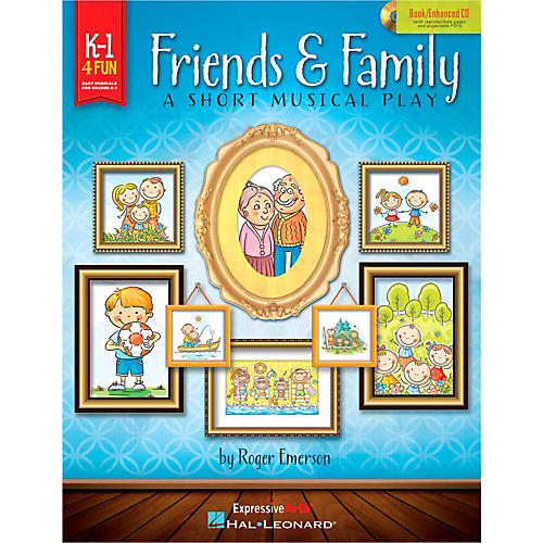 Hal Leonard Friends & Family - A Short Musical Play for Very Young Voices Book/Enhanced CD-thumbnail