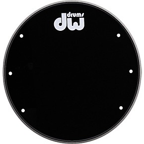 dw front ported bass drumhead with logo guitar center. Black Bedroom Furniture Sets. Home Design Ideas