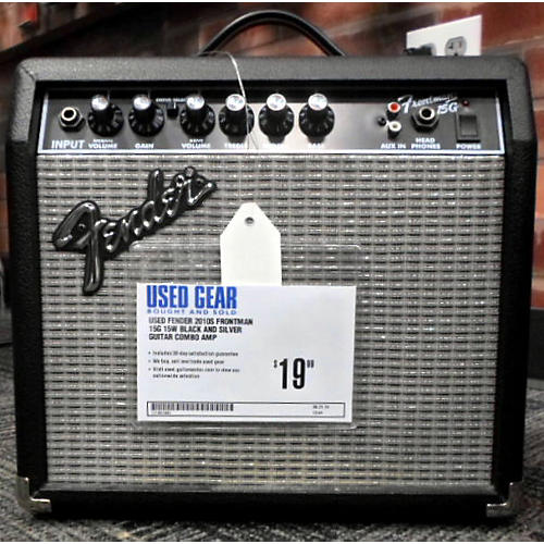 Fender Frontman 15G 15W Black And Silver Guitar Combo Amp-thumbnail