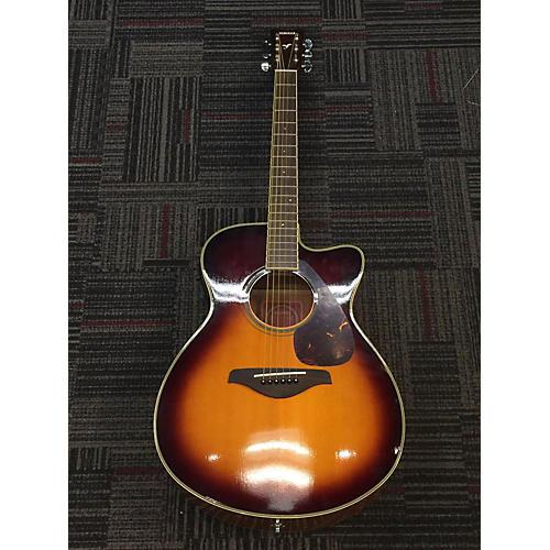 Yamaha Fsx720sc Acoustic Electric Guitar 2 Tone Sunburst