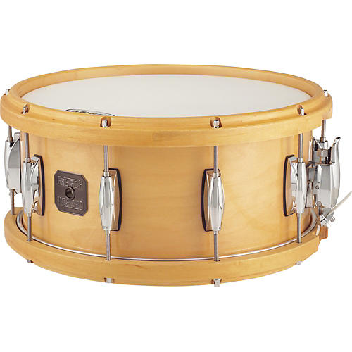 Gretsch Drums Full Range Maple Snare Drum with Wood Hoop Gloss Natural 6.5x14-thumbnail