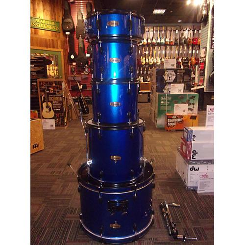 Gammon Percussion Full Sized Drum Kit Metallic Blue