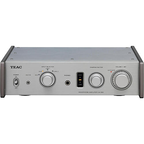 TEAC Fully Analog Dual Monaural Headphone Amplifier. Silver Color-thumbnail