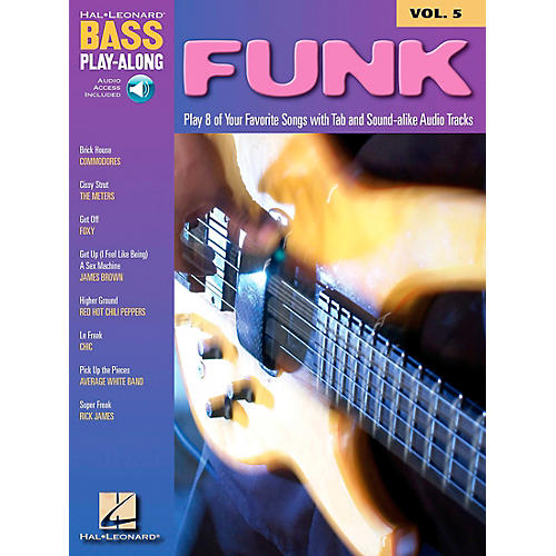 Hal Leonard Funk Bass Play-Along Series Book with CD