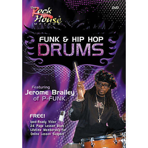 Hal Leonard Funk & Hip-Hop Drums Featuring Jerome Brailey of P-Funk (DVD/Book)-thumbnail