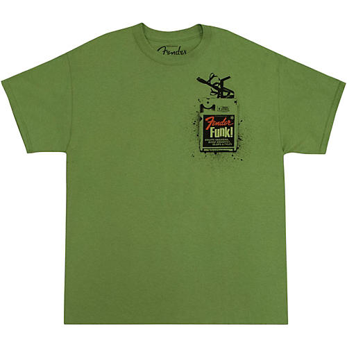 Fender Funk! T-Shirt Lime Green Medium