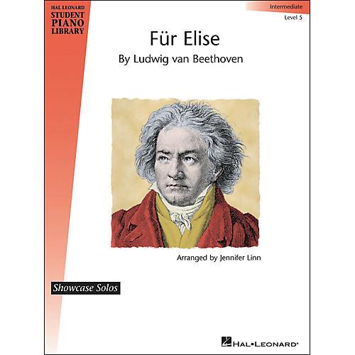 Hal Leonard Fur Elise - Showcase Solo Level 5 Intermediate Level Hal Leonard Student Piano Library by Jennifer Linn