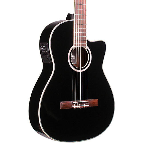Cordoba Fusion 12 Jet Acoustic-Electric Nylon String Classical Guitar Black