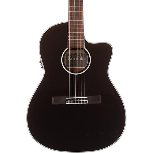Cordoba Fusion 14 Jet Acoustic Electric Nylon String Classical Guitar-thumbnail