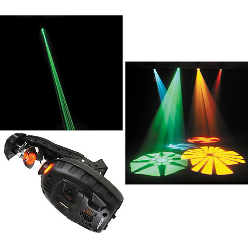 American DJ Fusion Scan 250 DMX Scanner and Green Laser-thumbnail