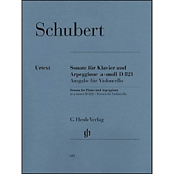 G. Henle Verlag Sonata for Piano and Arpeggione A minor D 821 (Op. Posth. (Version for Violoncello) By Schubert (51480611)