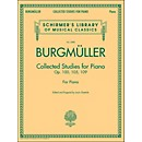 G. Schirmer Collected Studies For Piano - Op. 100 105 109 By Burgmuller (50490030)