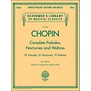 G. Schirmer Complete Preludes, Nocturnes And Waltzes For Piano By Chopin (50485897)