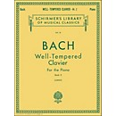 G. Schirmer Well Tempered Clavier Book 2 Piano Solo By Bach (50252040)
