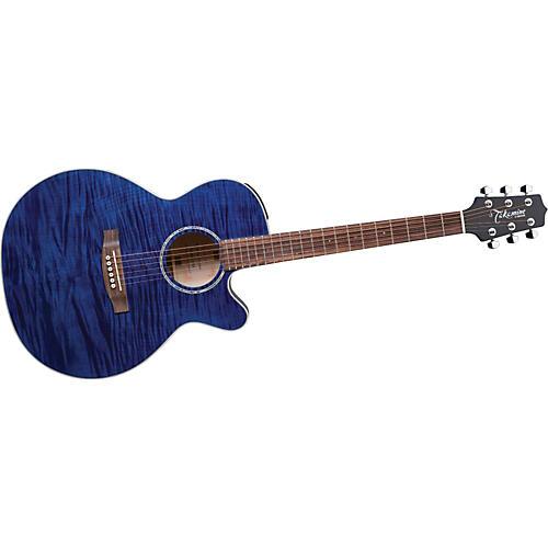 Takamine G NEX Flame Maple EG440CS Acoustic-Electric Guitar Blue