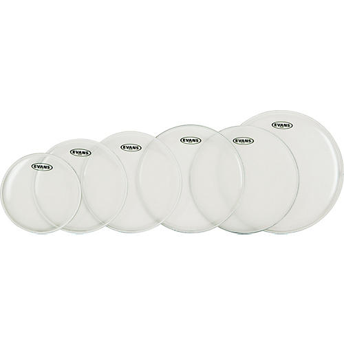 Evans G Plus Clear 5-Piece Standard Drumhead Set with Free 14